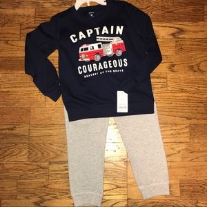 Toddler Boys Firetruck Outfit